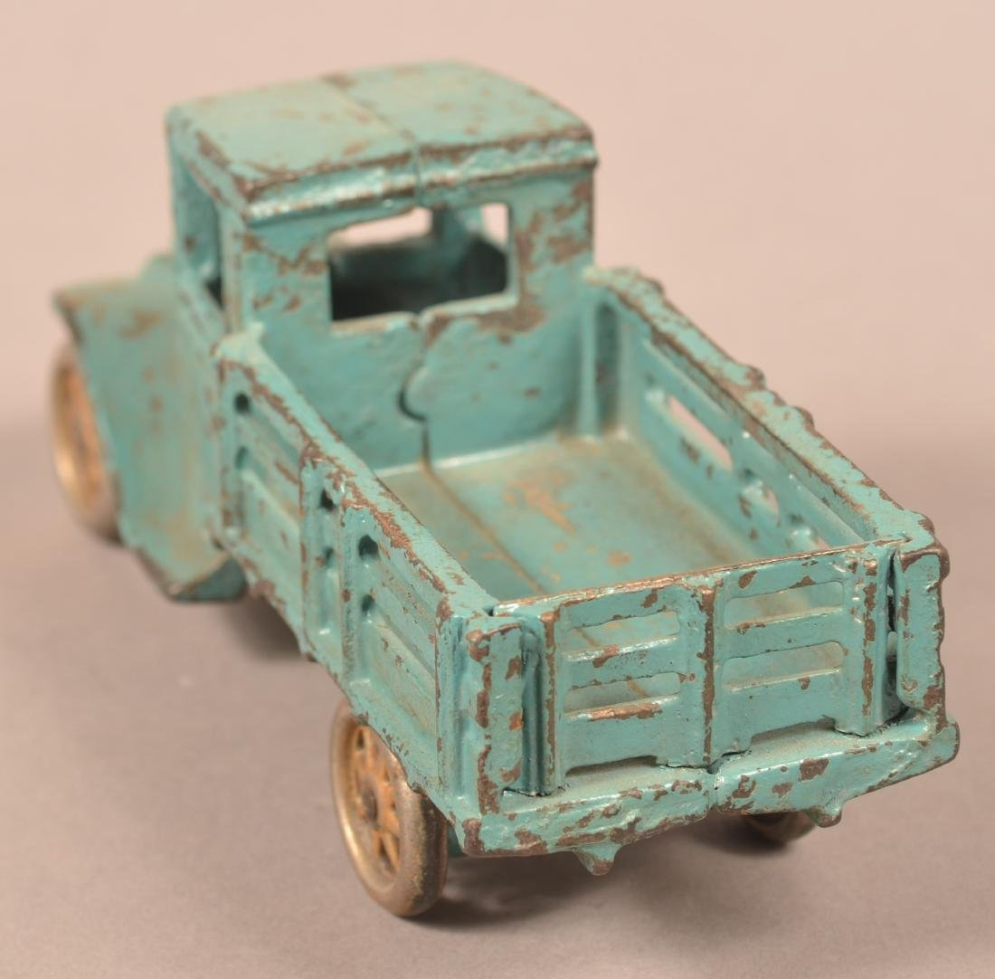 Arcade Cast Iron Model T Stake Body Truck. - 4