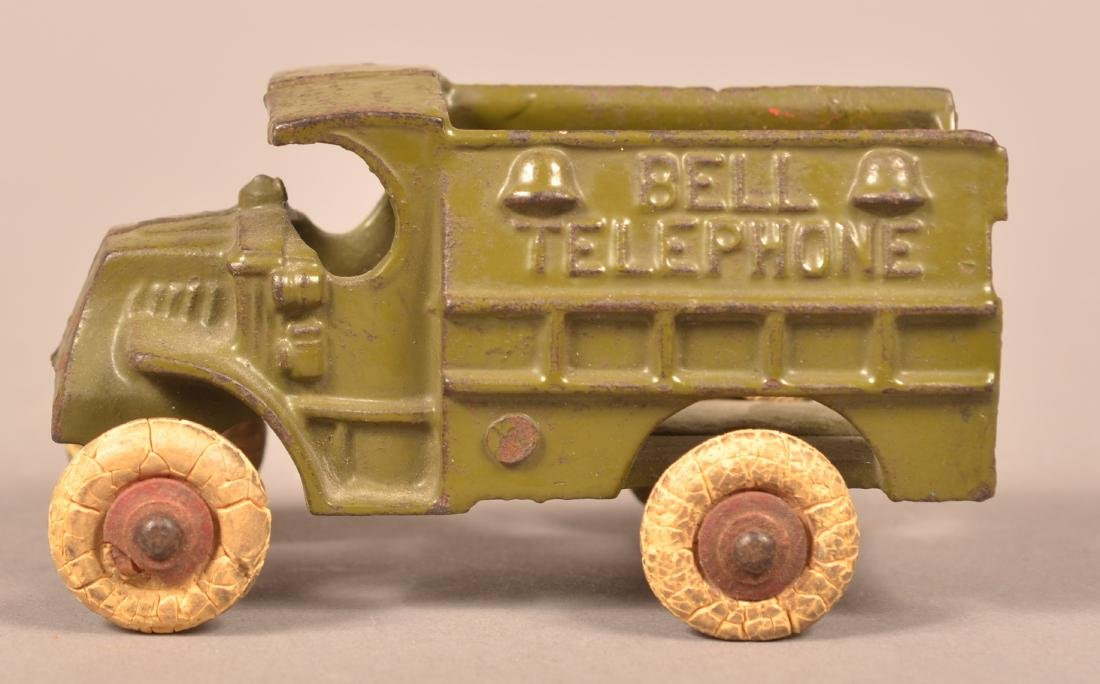 Hubley Cast Iron Bell Telephone Truck.