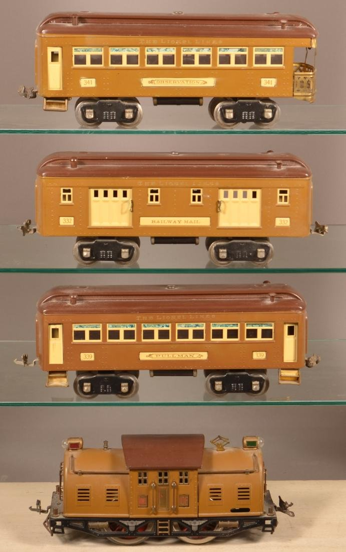 Lionel Standard Gauge Passenger Train Set.