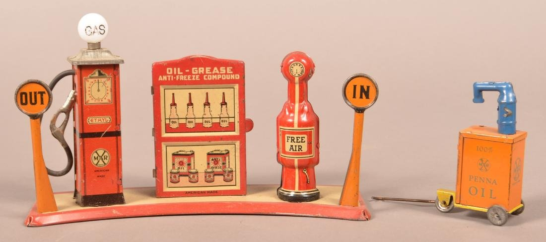Marx Tin Litho Britelite Filling Station.