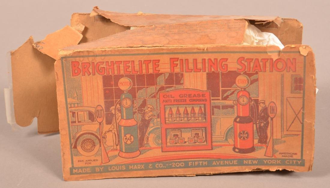 Marx Tin Litho Britelite Filling Station. - 4