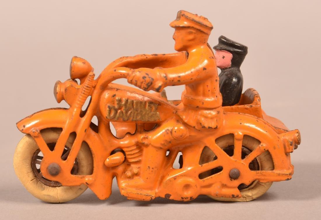 Hubley Cast Iron Harley Davidson Motorcycle.