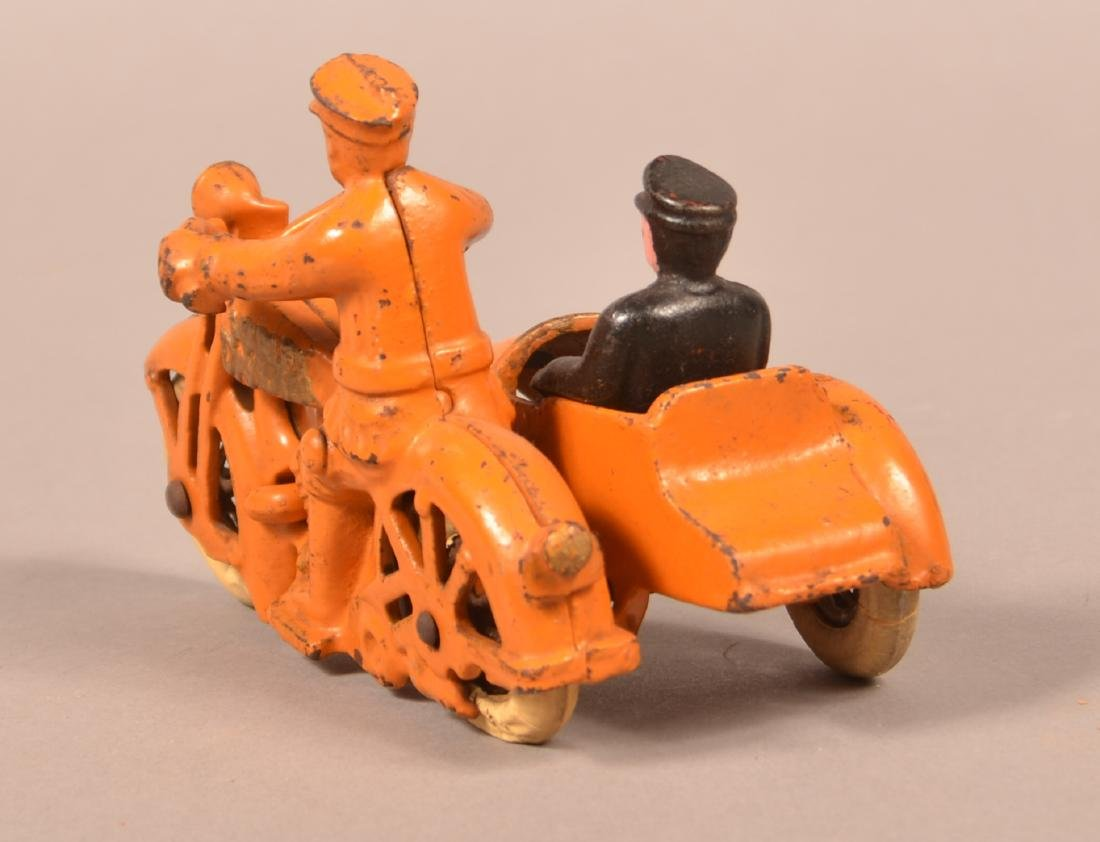 Hubley Cast Iron Harley Davidson Motorcycle. - 3