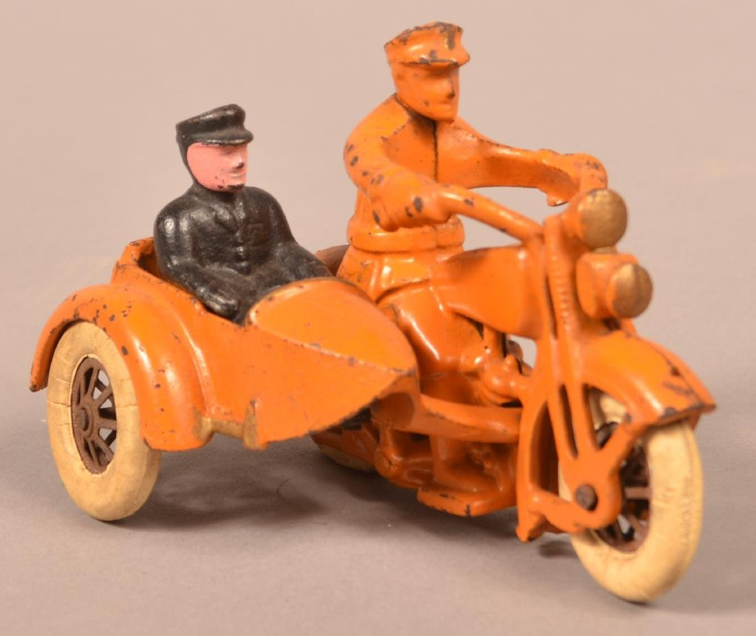 Hubley Cast Iron Harley Davidson Motorcycle. - 4