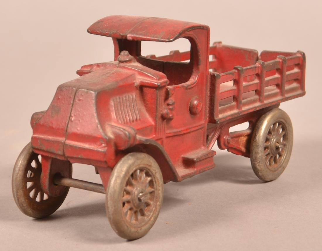 Hubley Cast Iron Mack Stake Body Truck. - 2