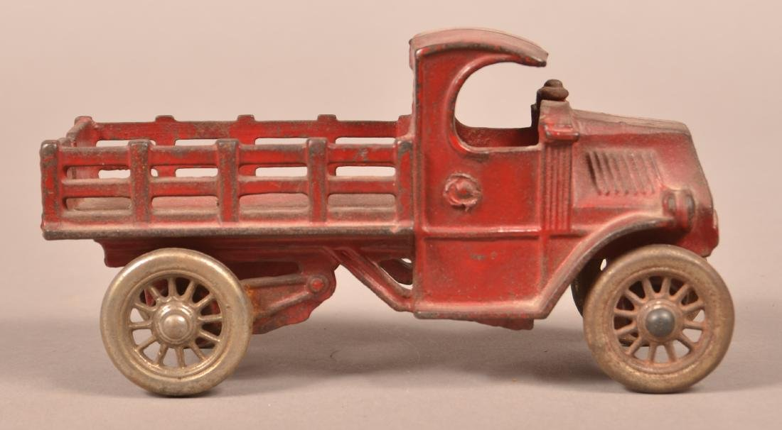 Hubley Cast Iron Mack Stake Body Truck. - 3