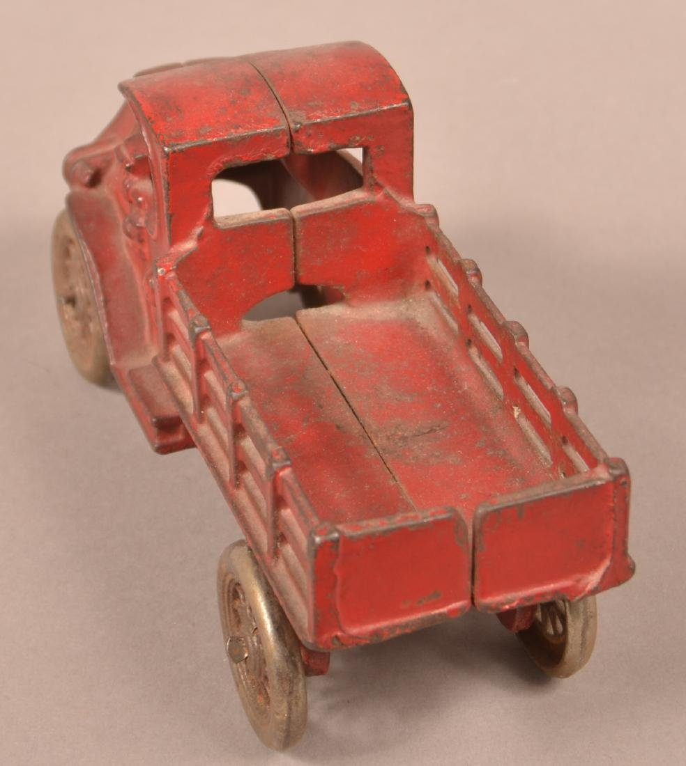 Hubley Cast Iron Mack Stake Body Truck. - 4