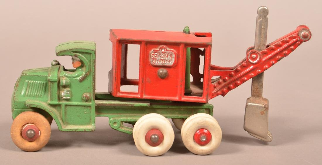 "Hubley Cast Iron ""General"" Digger Mack Truck."