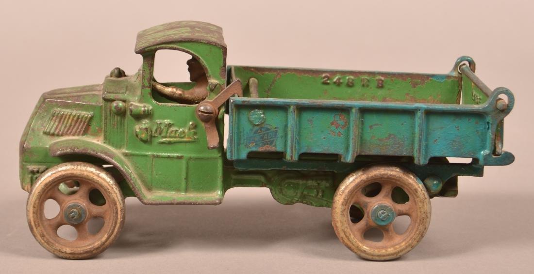 Arcade Cast Iron Mack Dump Truck.