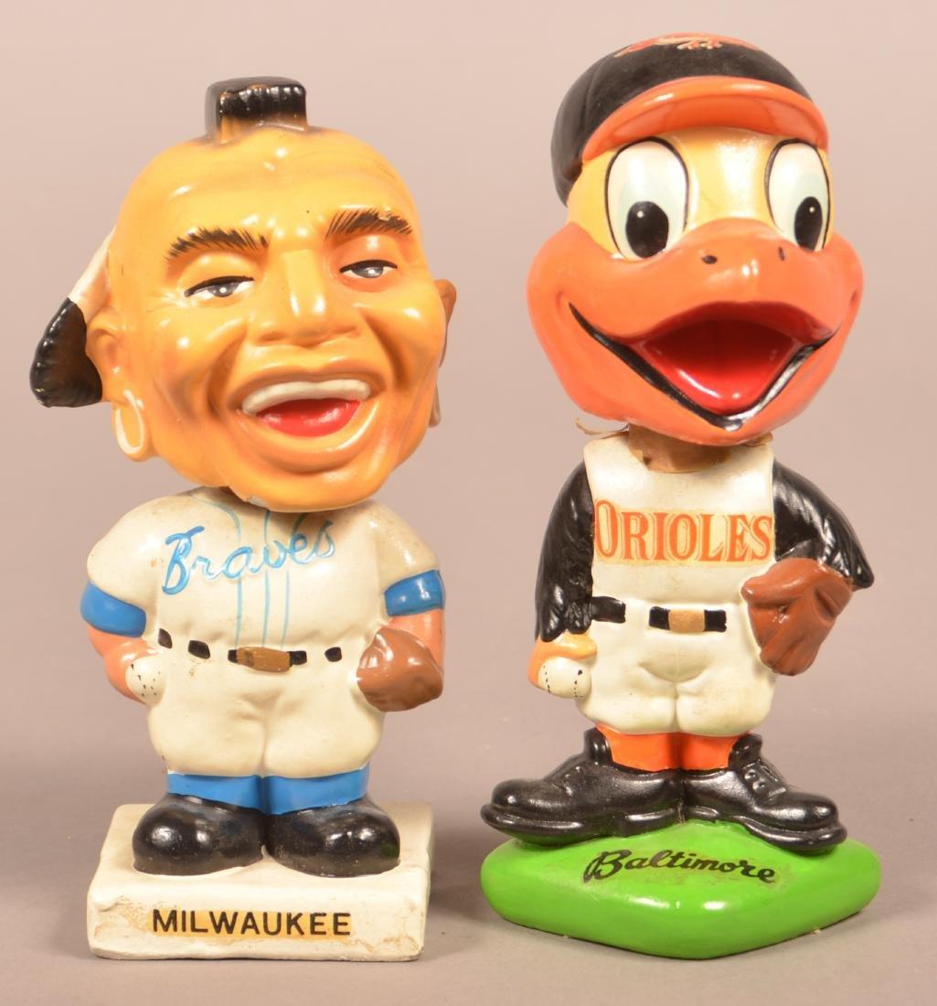 Two Vintage Baseball Bobble Heads.