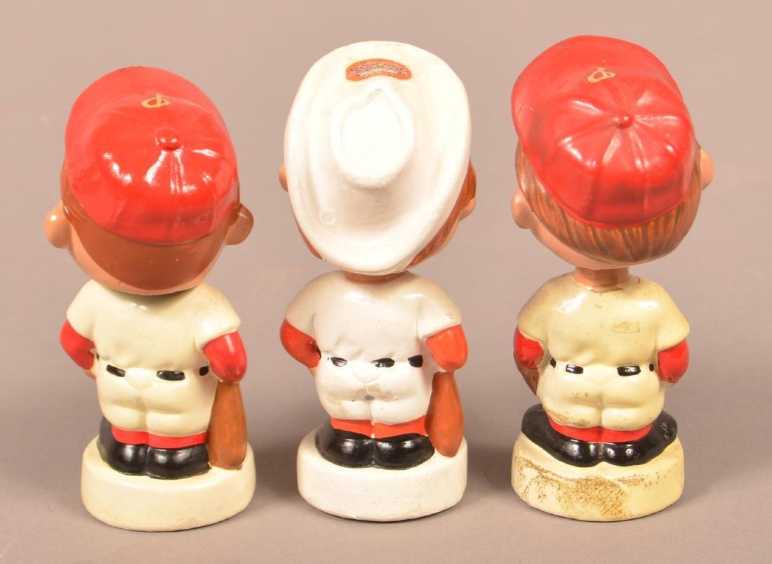 Three Vintage Baseball Bobble Heads. - 2