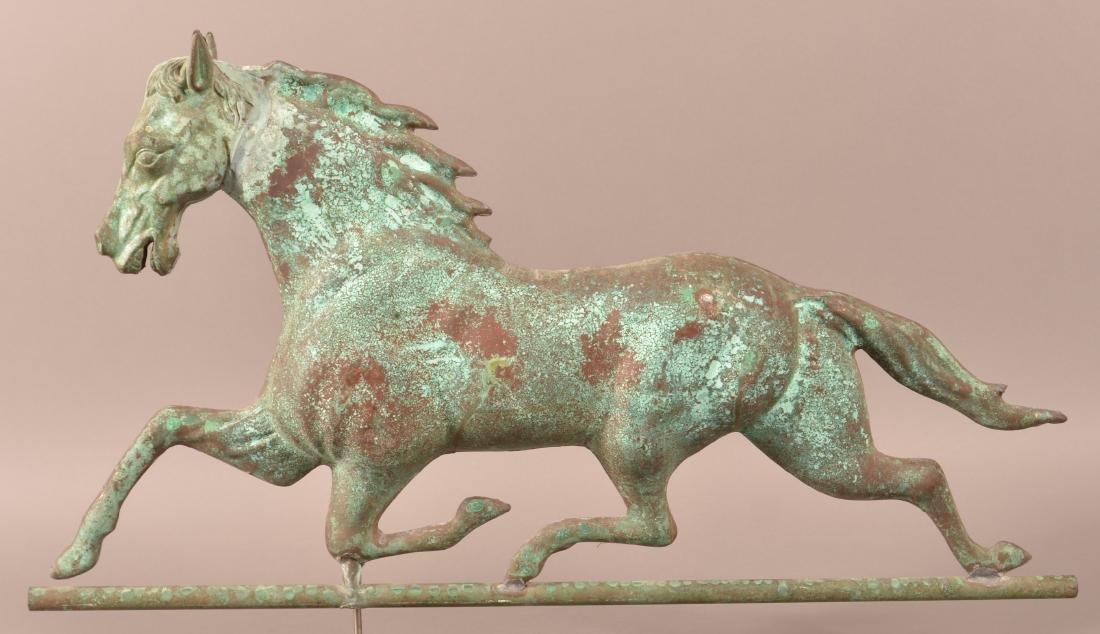 Vintage Dimensional Running Horse Weathervane.