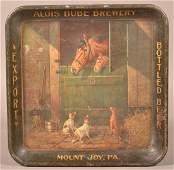 Alois Bube Brewery Tin Litho Advertising Tray