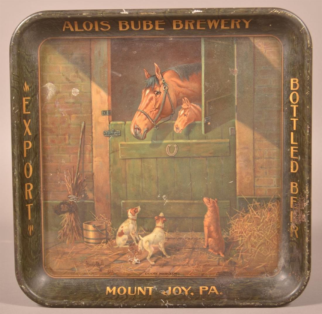 Alois Bube Brewery Tin Litho Advertising Tray.
