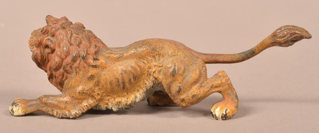 Austrian Cold-Painted Bronze Sculpture of a Lion. - 3