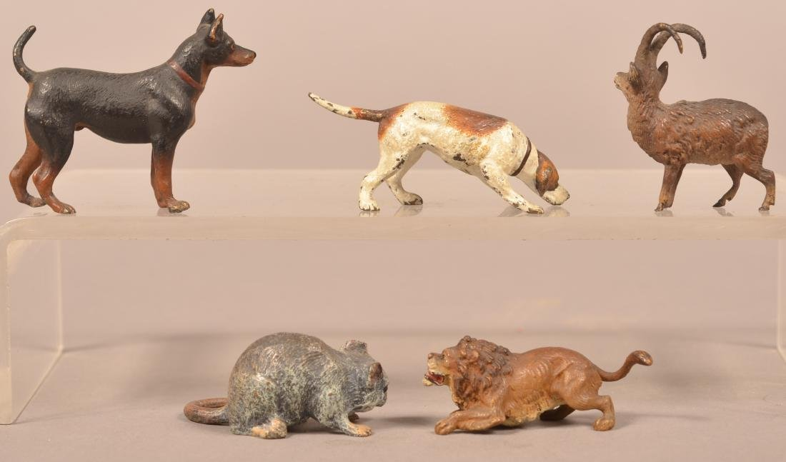 5 Austrian Cold-Painted Bronze Miniature Animals. - 2