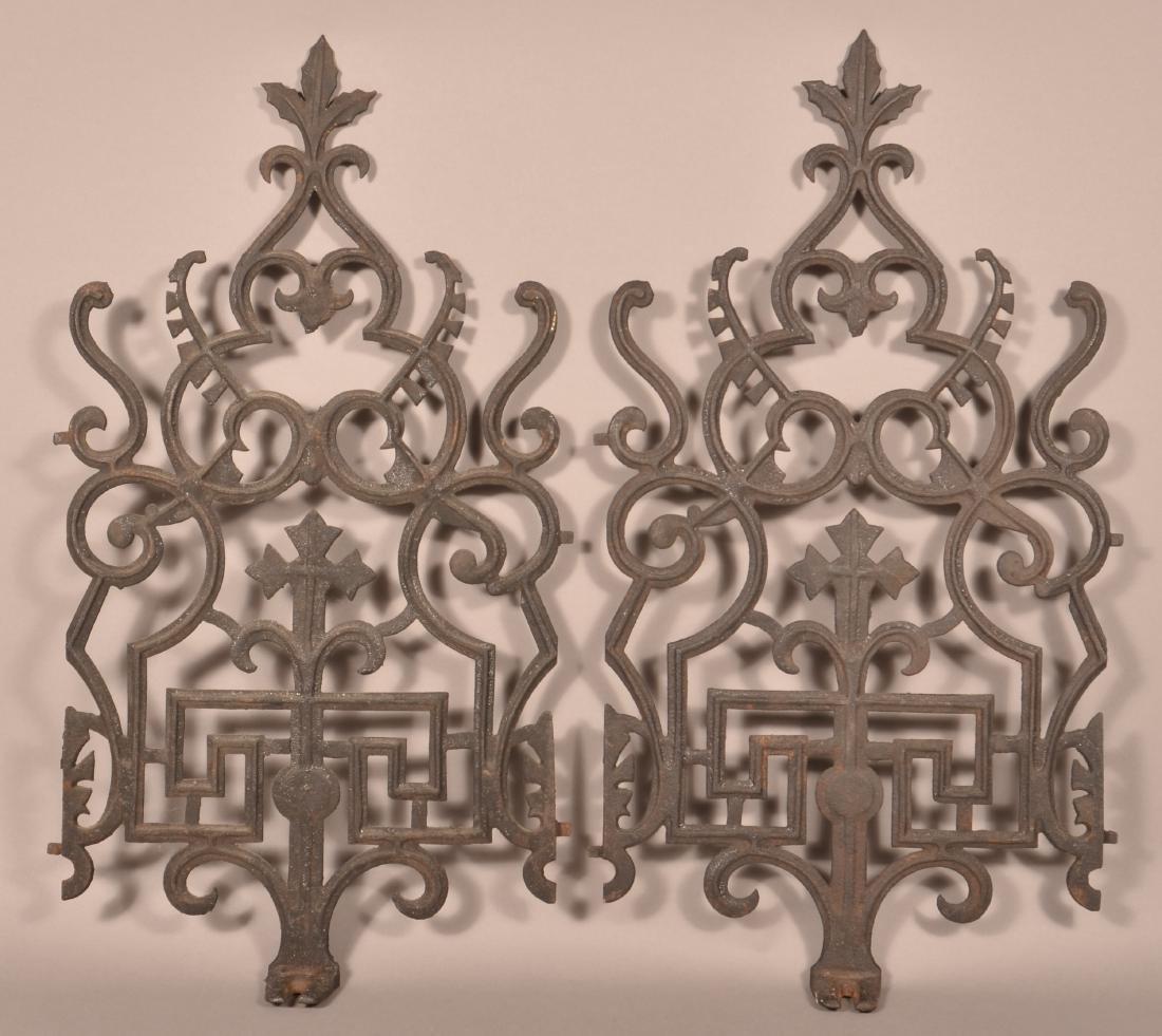Pair of Decorative Cast Iron Grates.