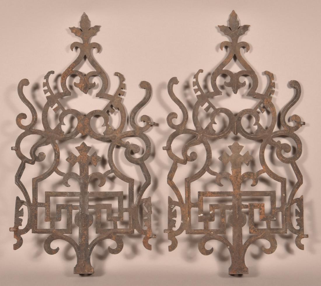 Pair of Decorative Cast Iron Grates. - 2