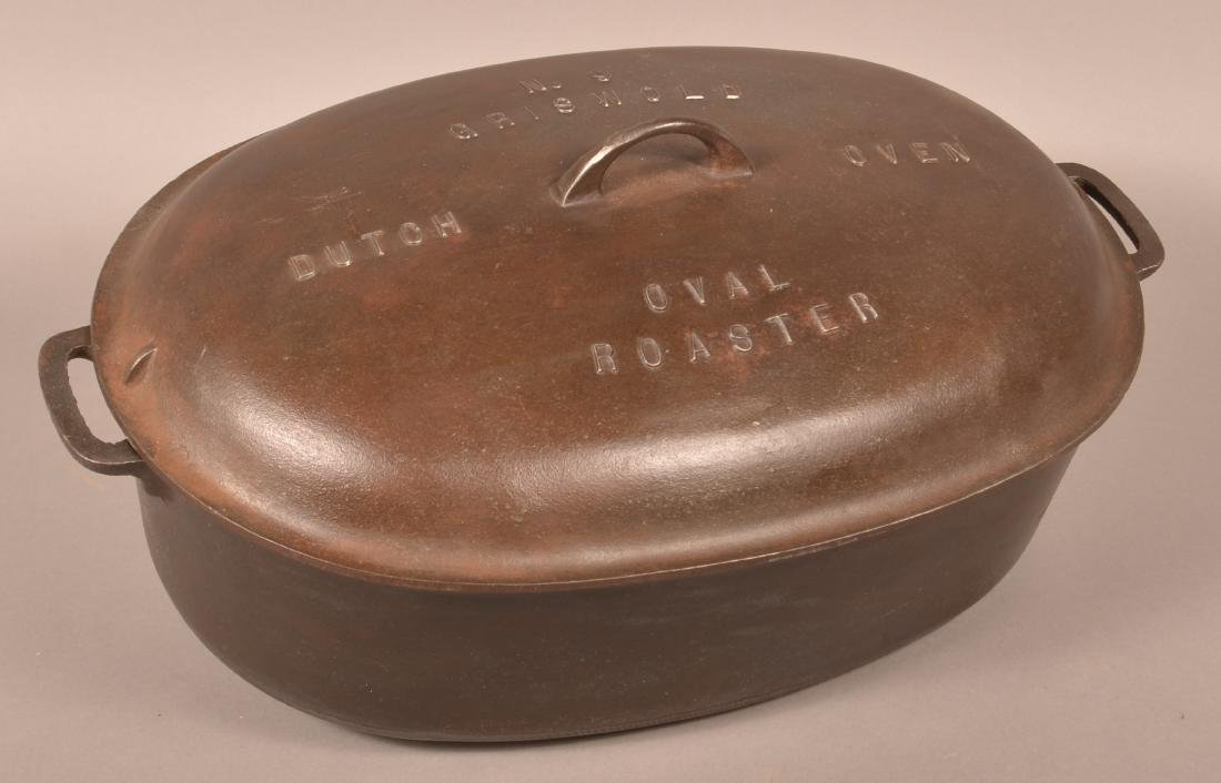 Griswold No. 9 Dutch Oven Oval Roaster.