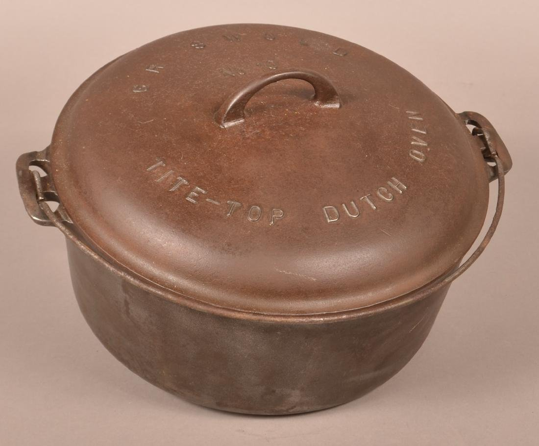 Griswold No. 10 Tite-Top Dutch Oven.