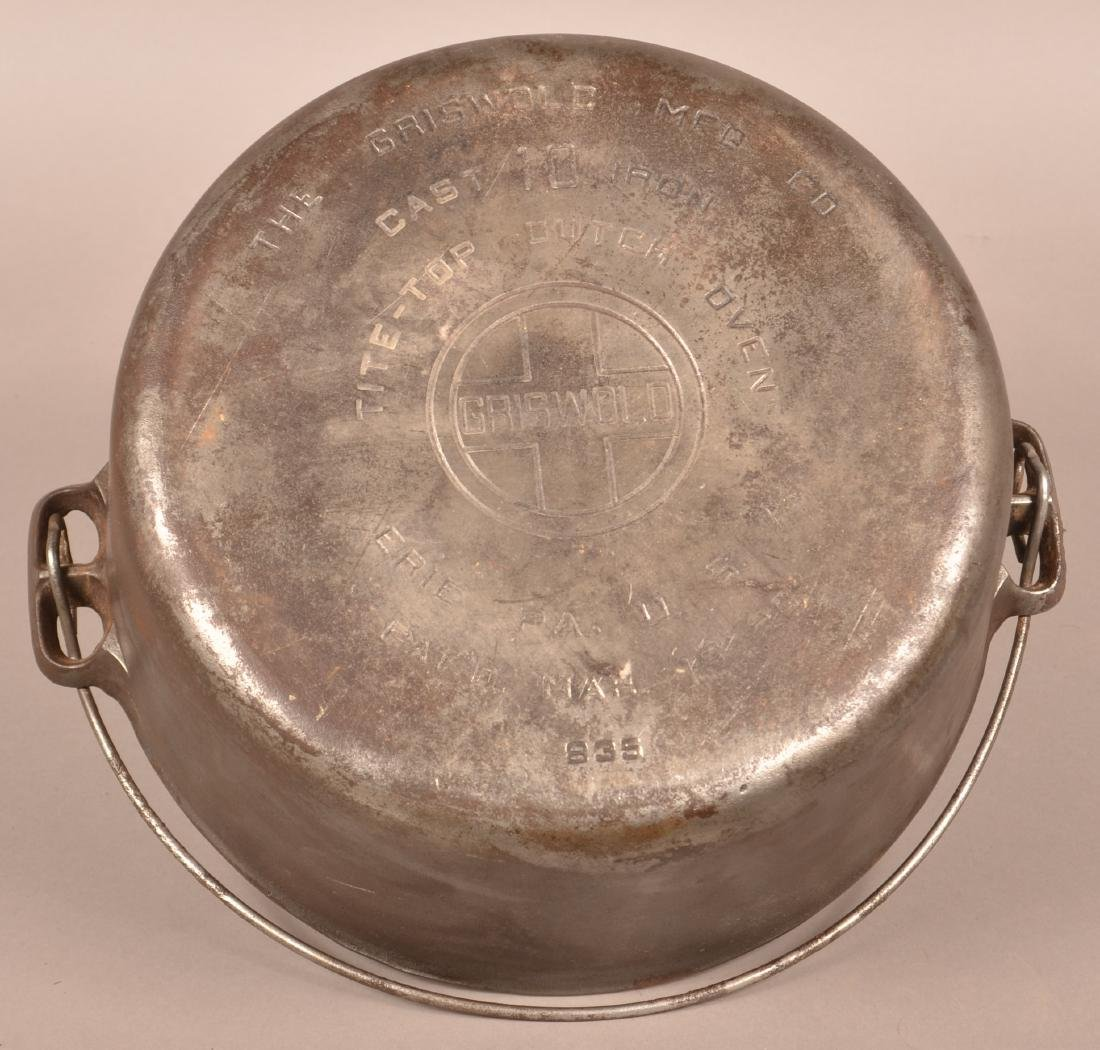 Griswold No. 10 Tite-Top Dutch Oven. - 3