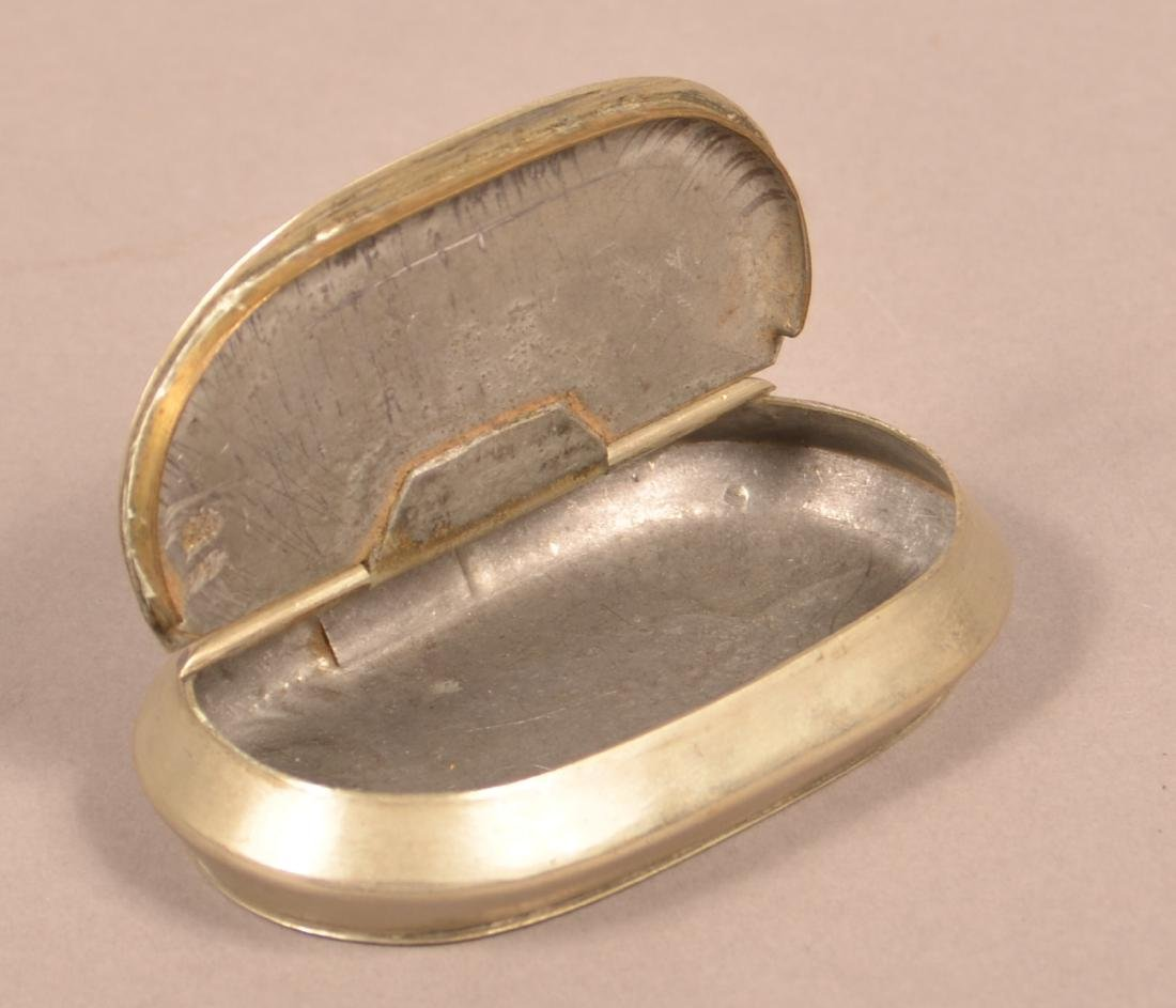 Engraved Nickeled Metal Snuff Box. - 3