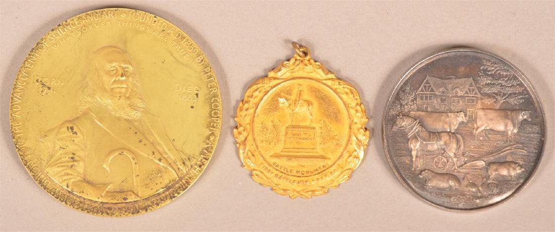 Lot of Three Various Antique Medals.