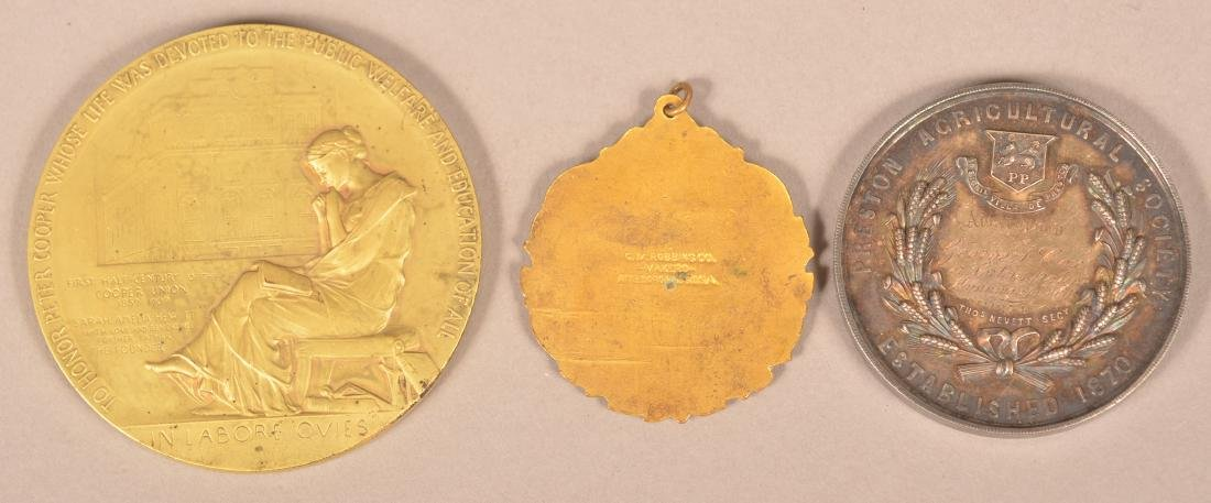 Lot of Three Various Antique Medals. - 2