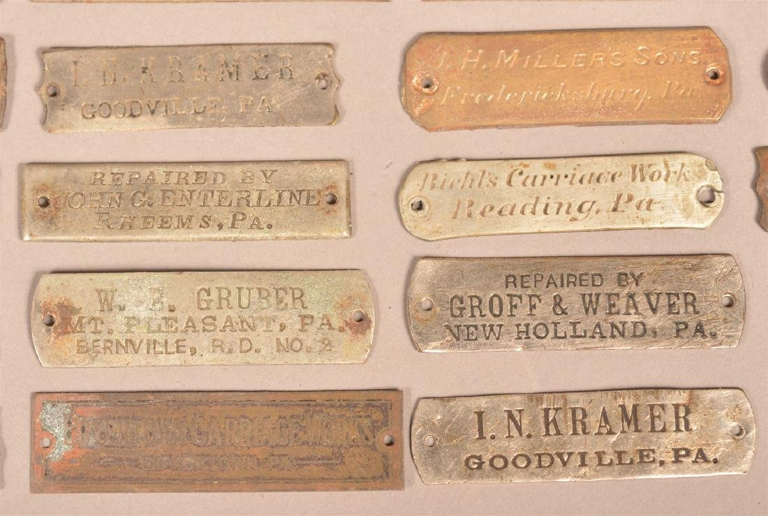 Lot of Antique Metal Manufacturers Tags. - 2