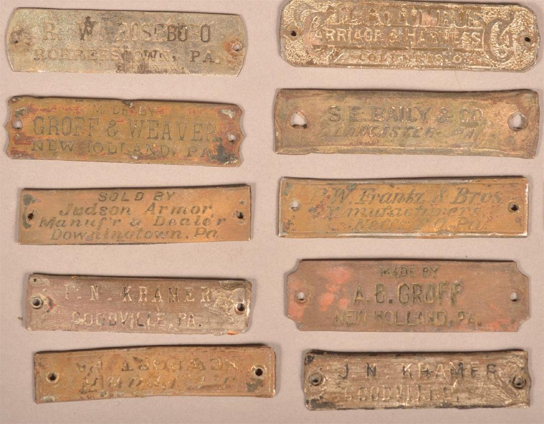 Lot of Antique Metal Manufacturers Tags. - 6