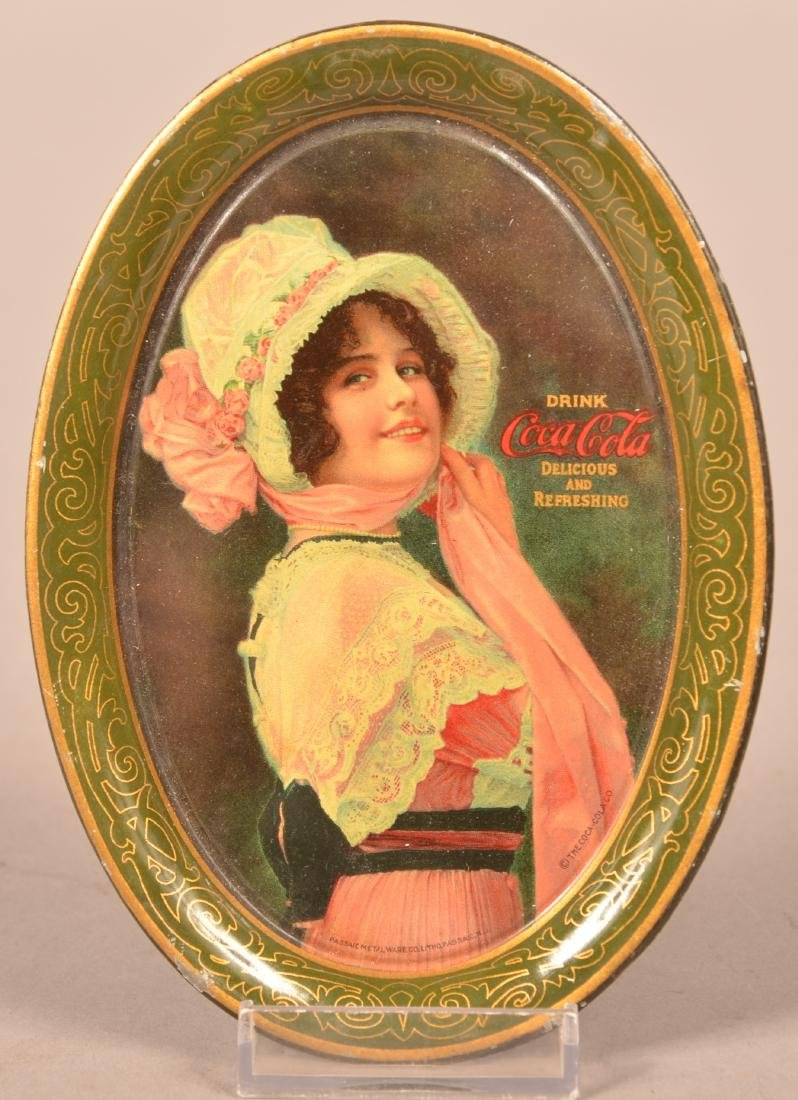 1914 Coca-Cola Tin Lithograph Tip Tray.