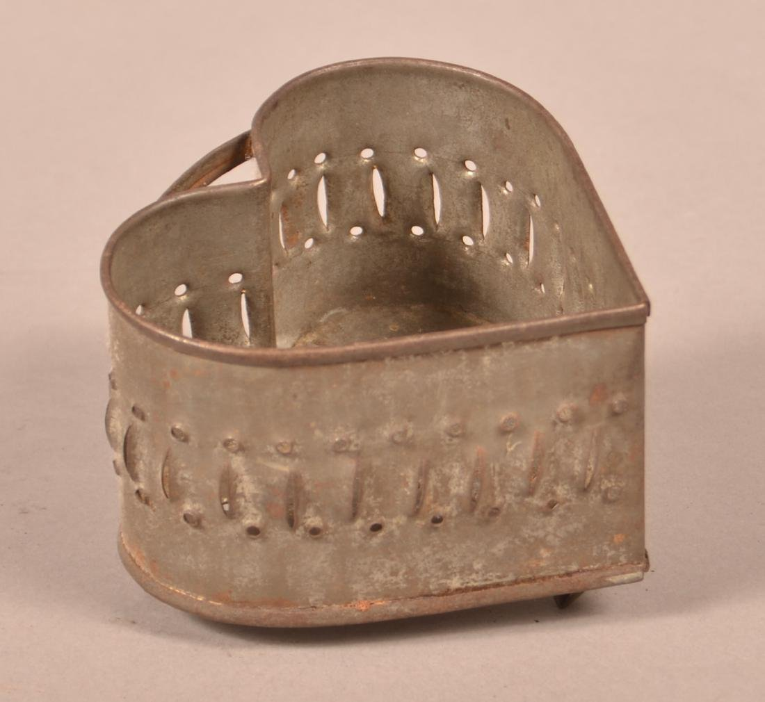 PA Heart Shaped Punched-tin Cheese Mold.