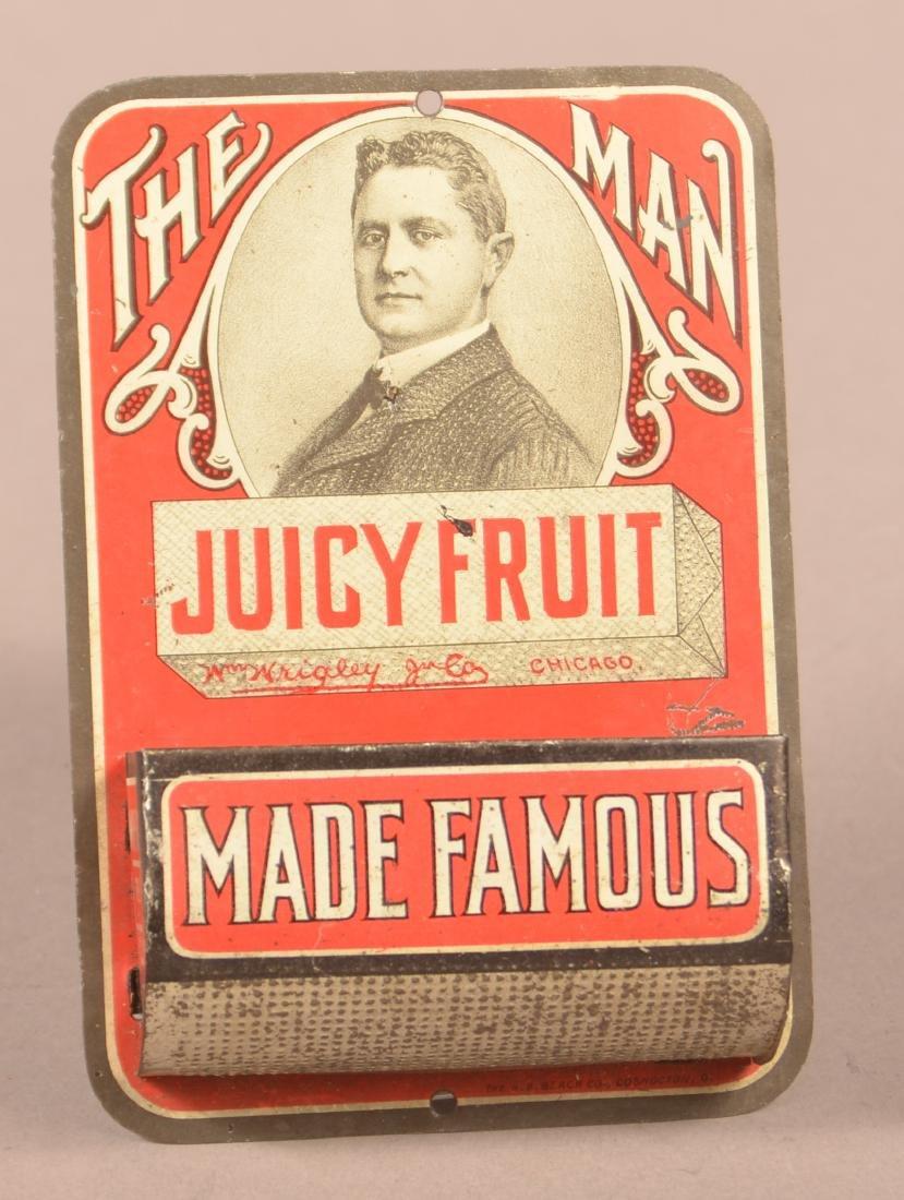 Juicy Fruit Gum Tin Litho. Advertising Match Safe.