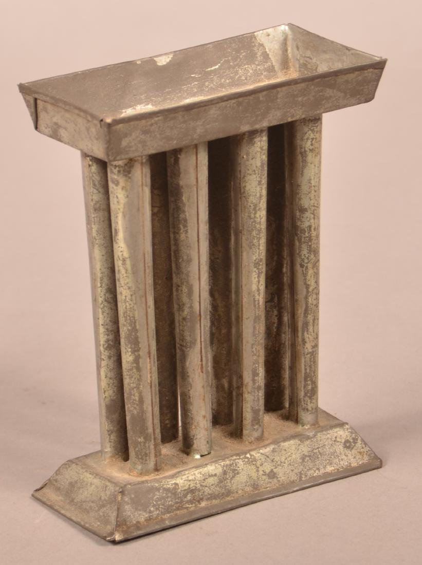 Small 19th Century Tin Eight Tube Candle Mold. - 3