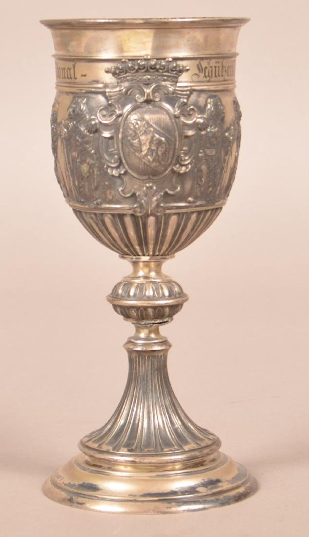 German .800 Silver Chalice Dated 1897.