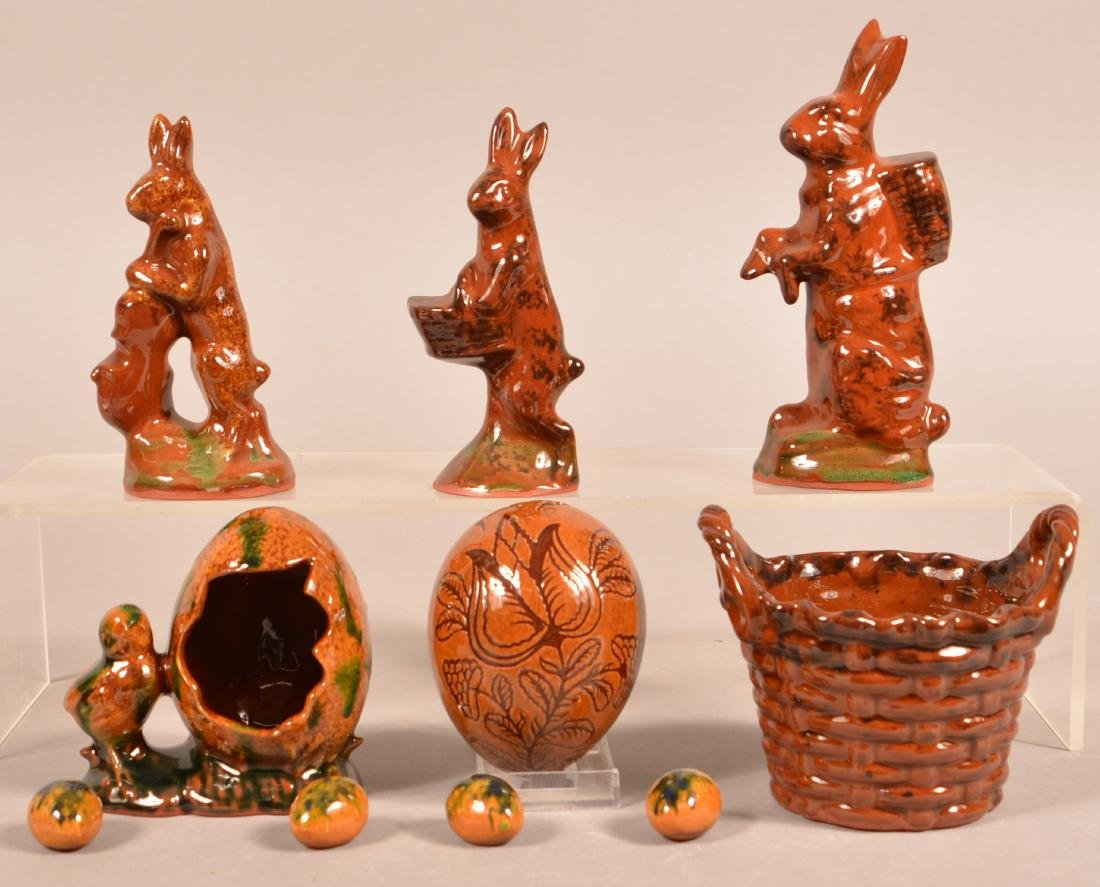 Lot of Easter Related Foltz Redware.
