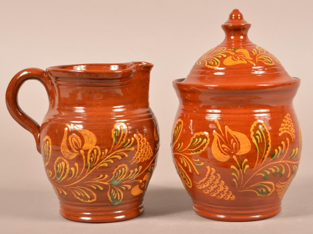 Two Pieces of Foltz Redware.
