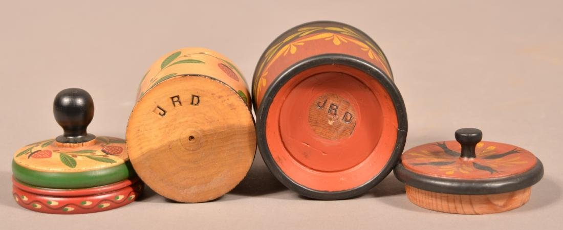 Two John R. Dierwechter Painted Canisters. - 3