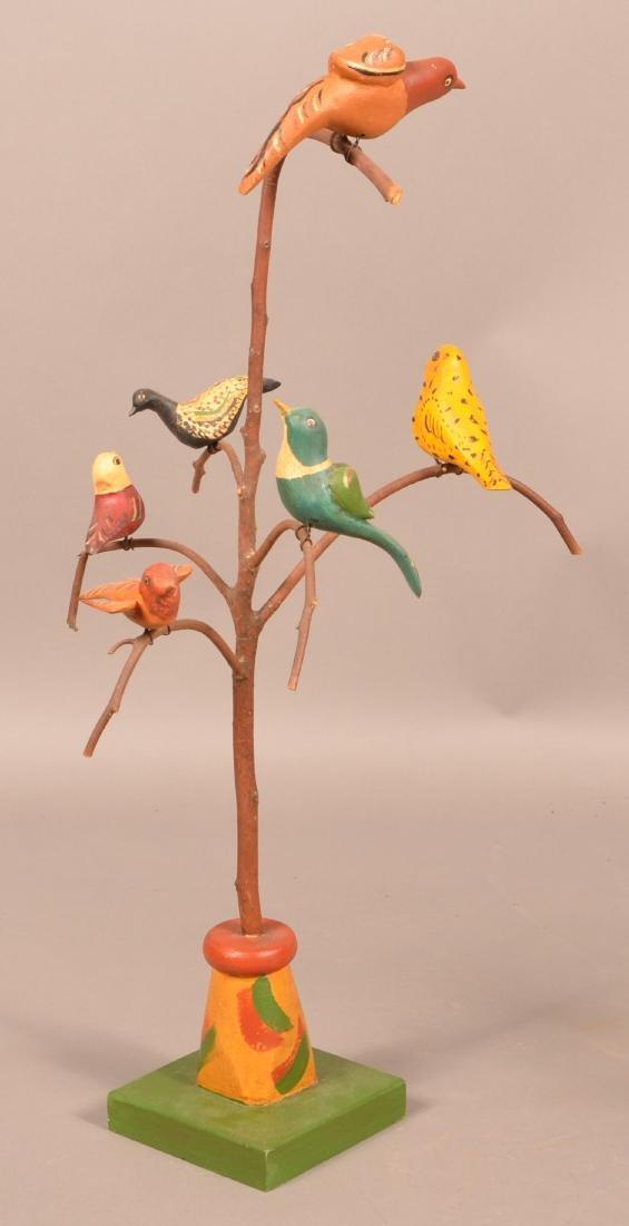 2006 Folk Art Bird Tree by June & Walt Gottshall.