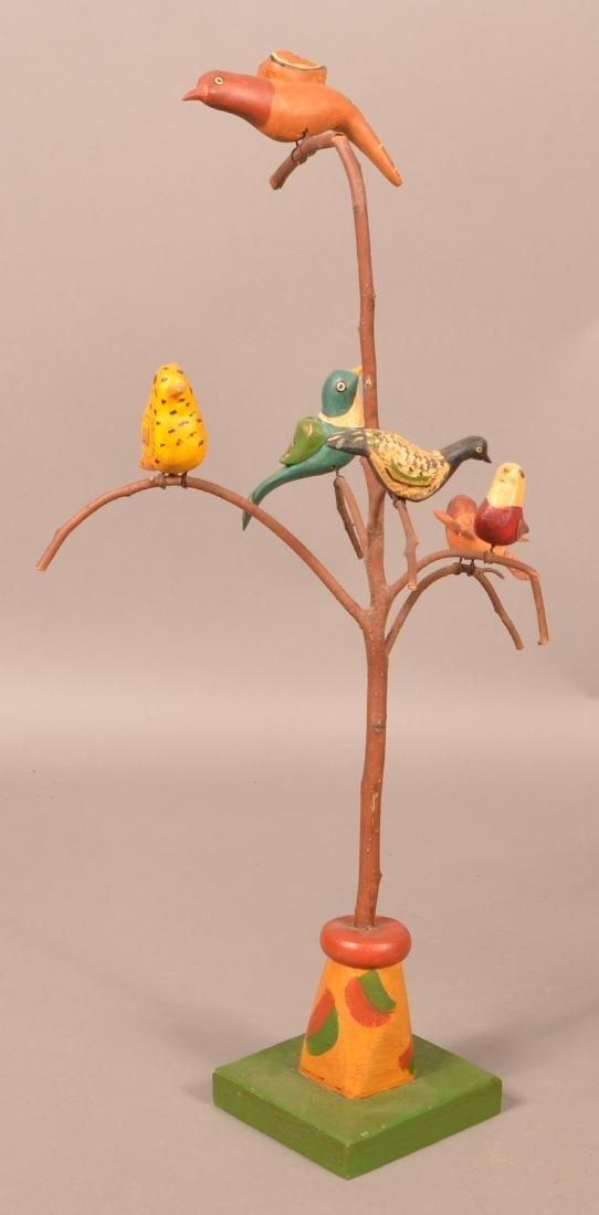 2006 Folk Art Bird Tree by June & Walt Gottshall. - 2