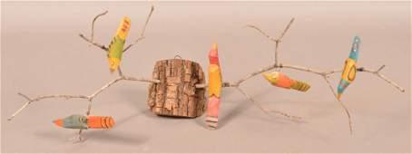 2002 Folk Art Bird Tree by D. & D. Strawser.