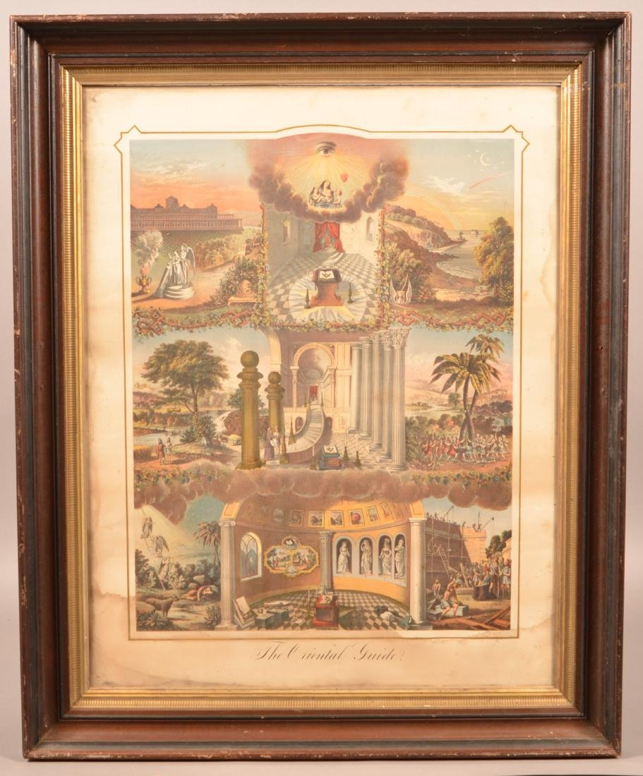 """The Oriental Guide"" Masonic Color Print."