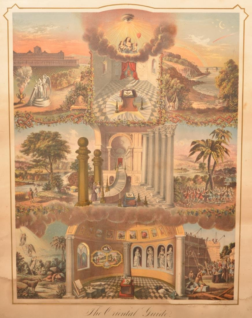 """The Oriental Guide"" Masonic Color Print. - 2"