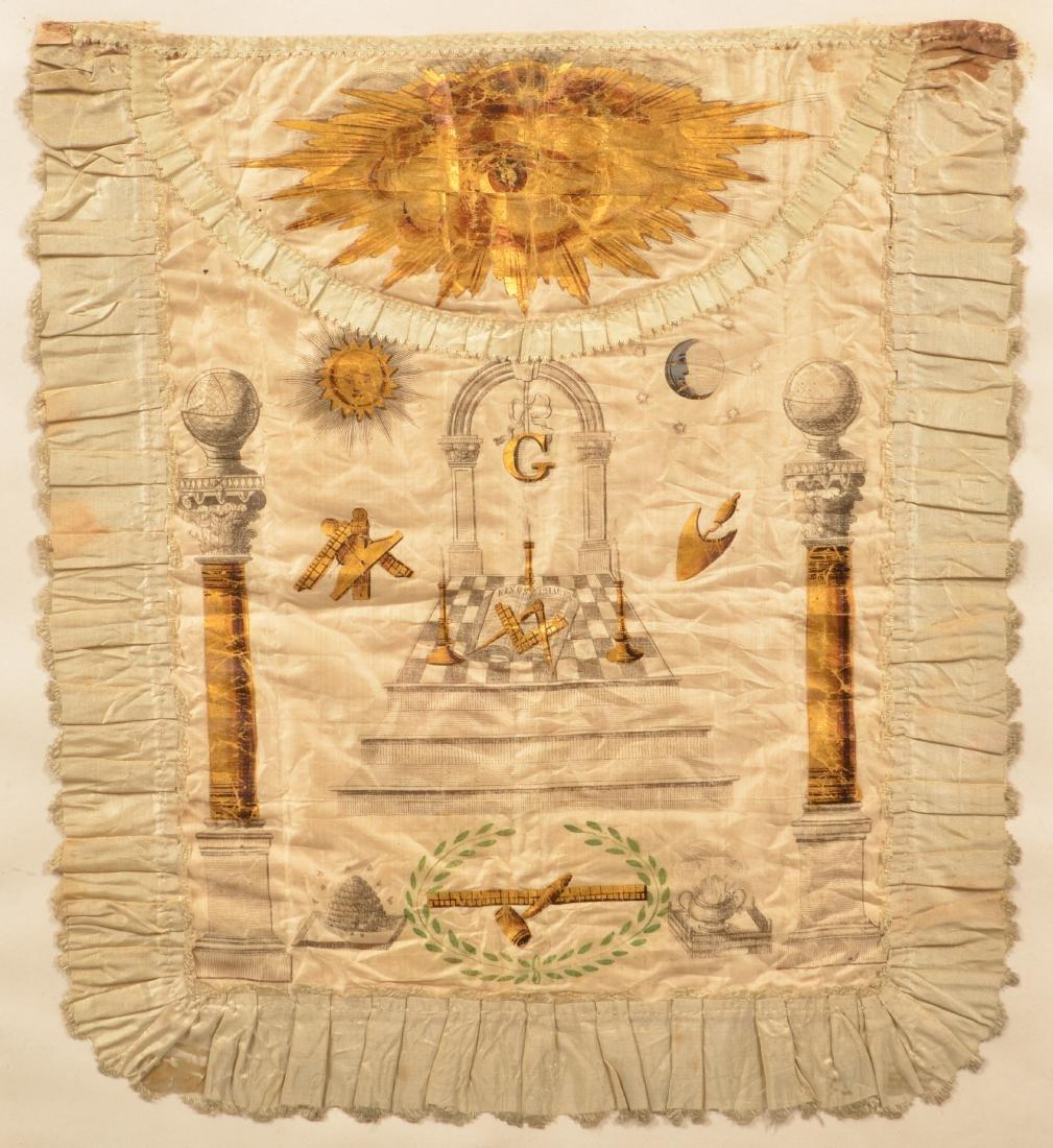 18th/19th Century Masonic Silk Apron.