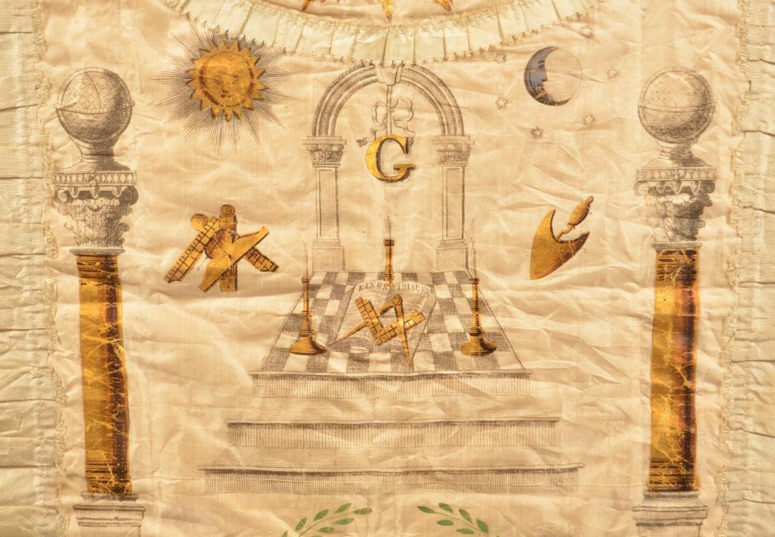 18th/19th Century Masonic Silk Apron. - 3