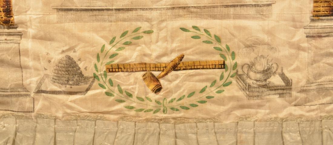 18th/19th Century Masonic Silk Apron. - 4