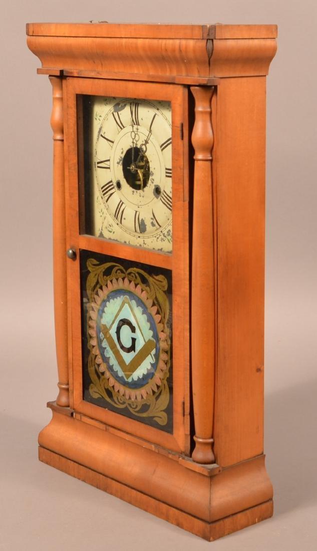 Seth Thomas Mahogany Case Shelf Clock. - 4