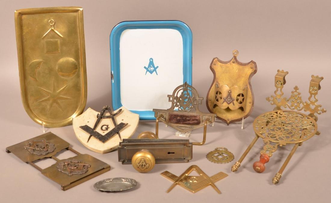 Lot of Various Masonic Metalwares.