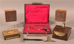 Lot of Antique Vintage Masonic Items