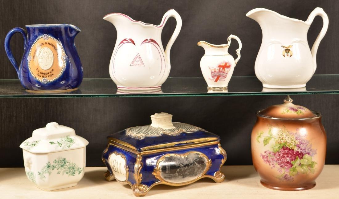 Lot of Antique/Vintage Masonic Transfer China.